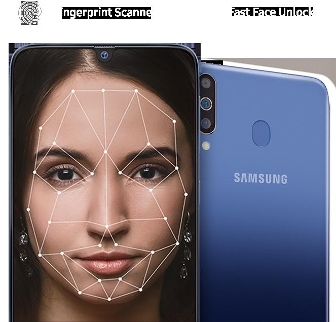 Samsung Galaxy M30 - Face Unlock & Fingerprint Sensor