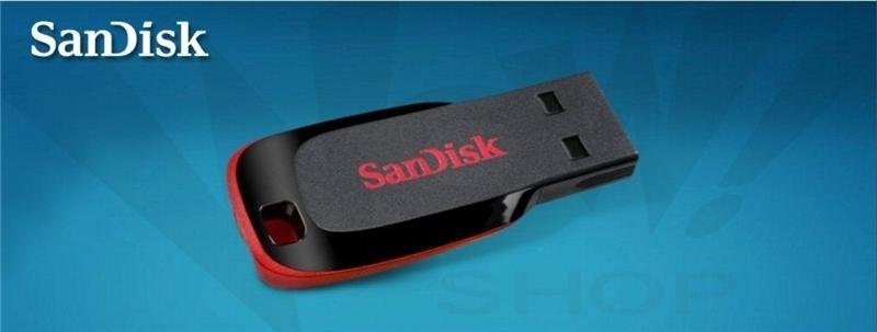 Sandisk 32GB Cruzer Blade Flash Drive - Black U Disk  flashdisk flash disk black sandisk 32gb 1
