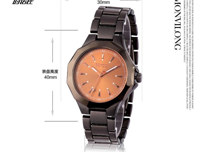 SINOBI Luxury Wrist watches Top Fashion Watch Men Watch Stainless