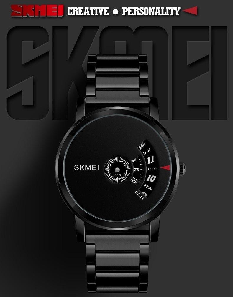 Skmei Men's Quartz Watch Sport Watches Luxury Fashion Business Wristwatches Waterproof Male Clock silver 28cm 1