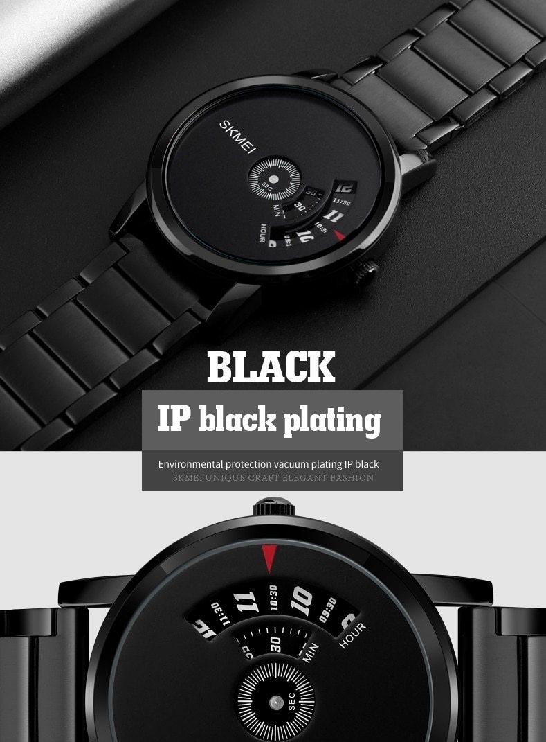Skmei Men's Quartz Watch Sport Watches Luxury Fashion Business Wristwatches Waterproof Male Clock silver 28cm 4