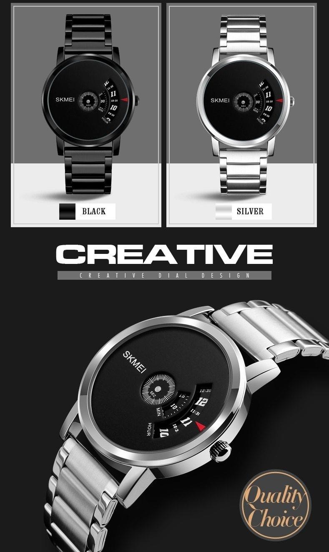 Skmei Men's Quartz Watch Sport Watches Luxury Fashion Business Wristwatches Waterproof Male Clock silver 28cm 2
