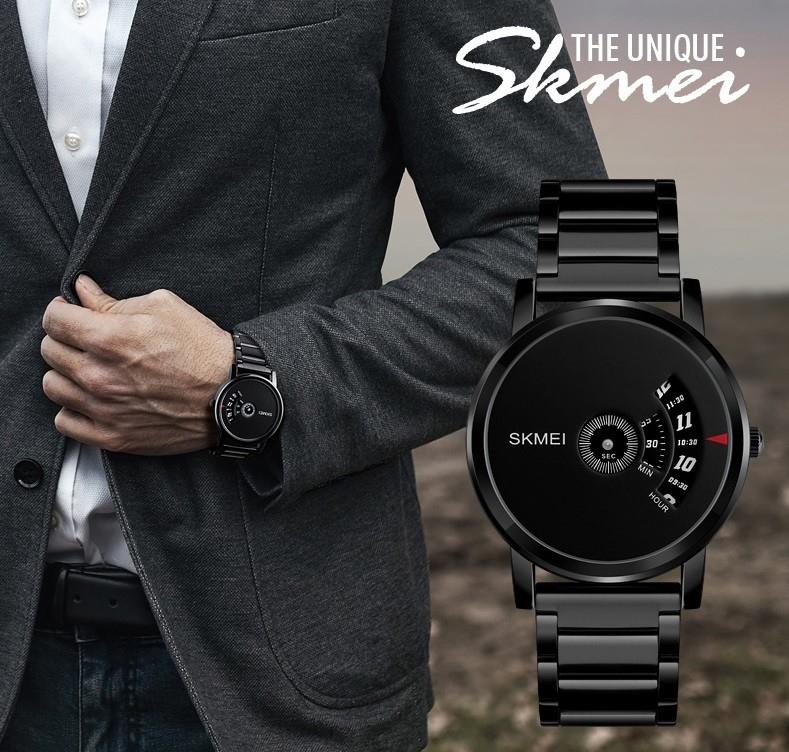 Skmei Men's Quartz Watch Sport Watches Luxury Fashion Business Wristwatches Waterproof Male Clock silver 28cm 3