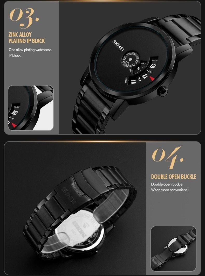 Skmei Men's Quartz Watch Sport Watches Luxury Fashion Business Wristwatches Waterproof Male Clock silver 28cm 10