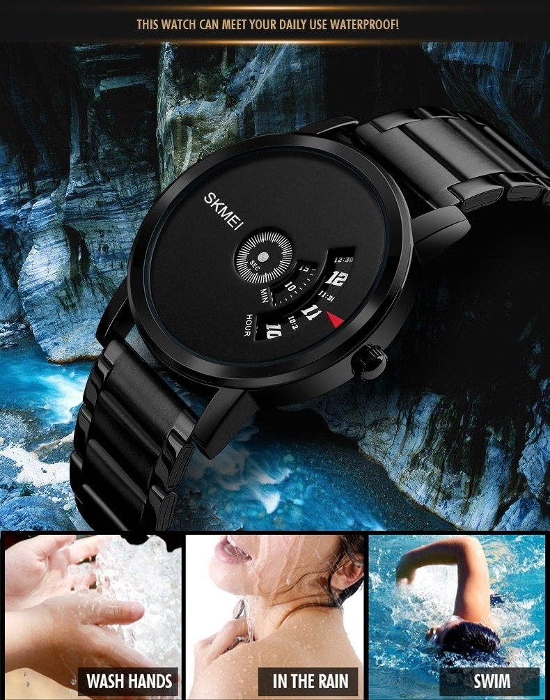 Skmei Men's Quartz Watch Sport Watches Luxury Fashion Business Wristwatches Waterproof Male Clock silver 28cm 7