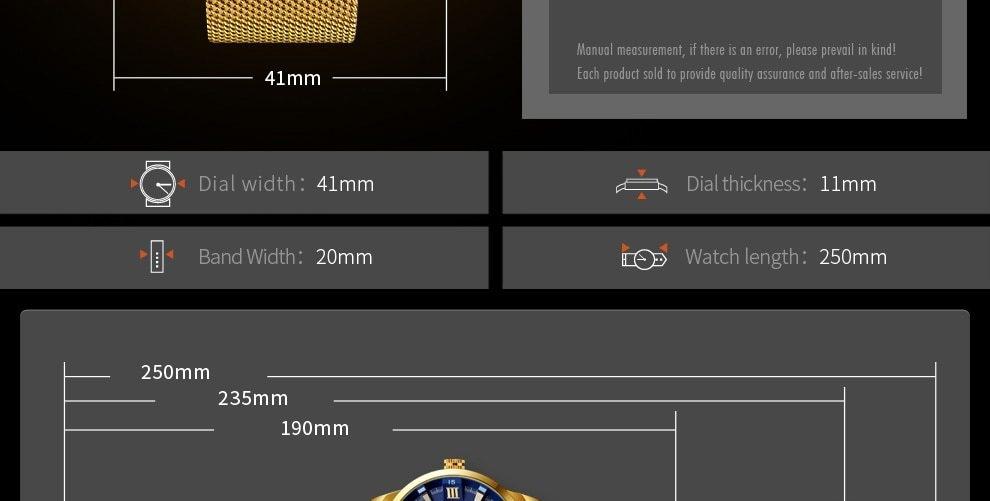 SKMEI Fashion Quartz Men Luxury Business Watch Stainless Steel Waterproof Wristwatches Male Clock gold 25cm 14