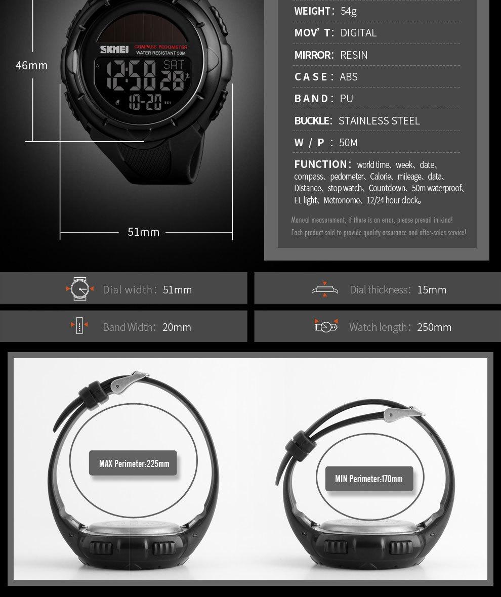 Skmei SKMEI Sport Men Digital Watches Outdoor Pedometer