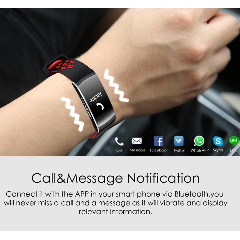 Q8 IP68 Blood Pressure Heart Rate Monitor Fitness Tracker Smart Wristband Bracelet For iOS Android