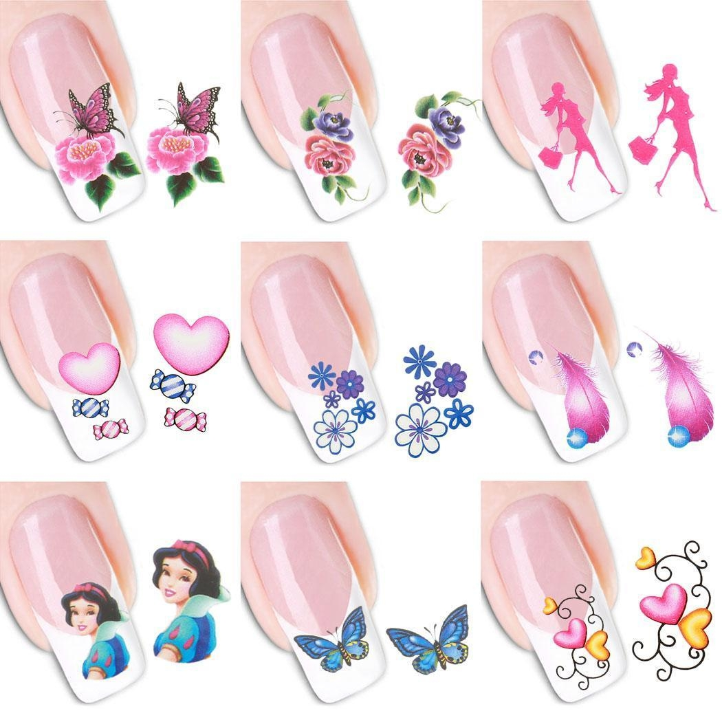 Buy Sunshine 50 Sheets/set 3D Design Nail Art Tips Decoration Print ...