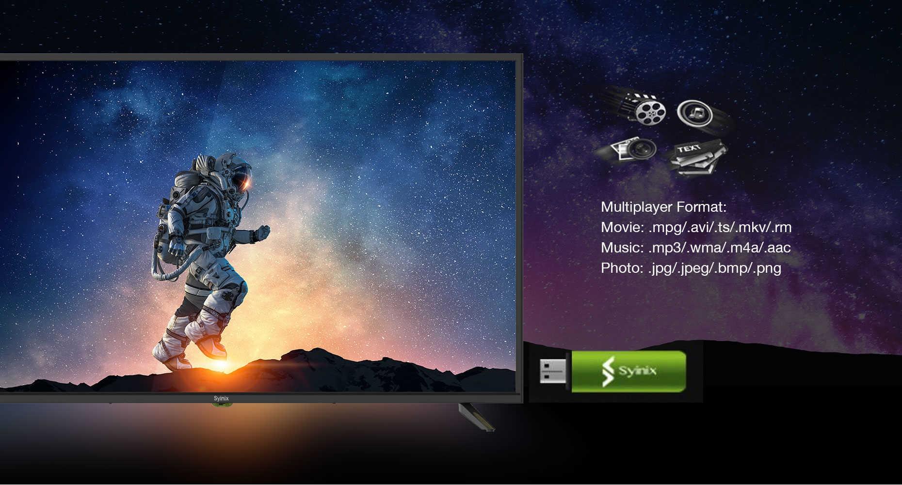 syinix frameless tv