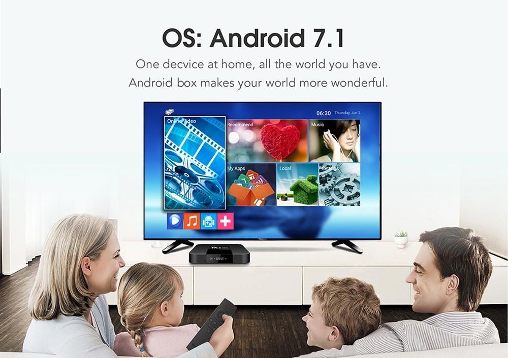 Tanix TX3 Mini TV Box S905W 2.4GHz WiFi Android 7.1 1GB RAM + 8GB ROM Support 4K