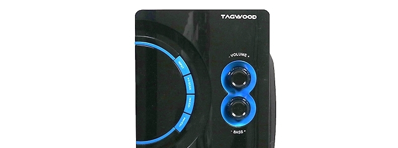 TAGWOOD MP-2176 Home Theater Sound System Multimedia 2.1  Bluetooth Speaker Subwoofer Black PMPO: 5500W MP-2176 6