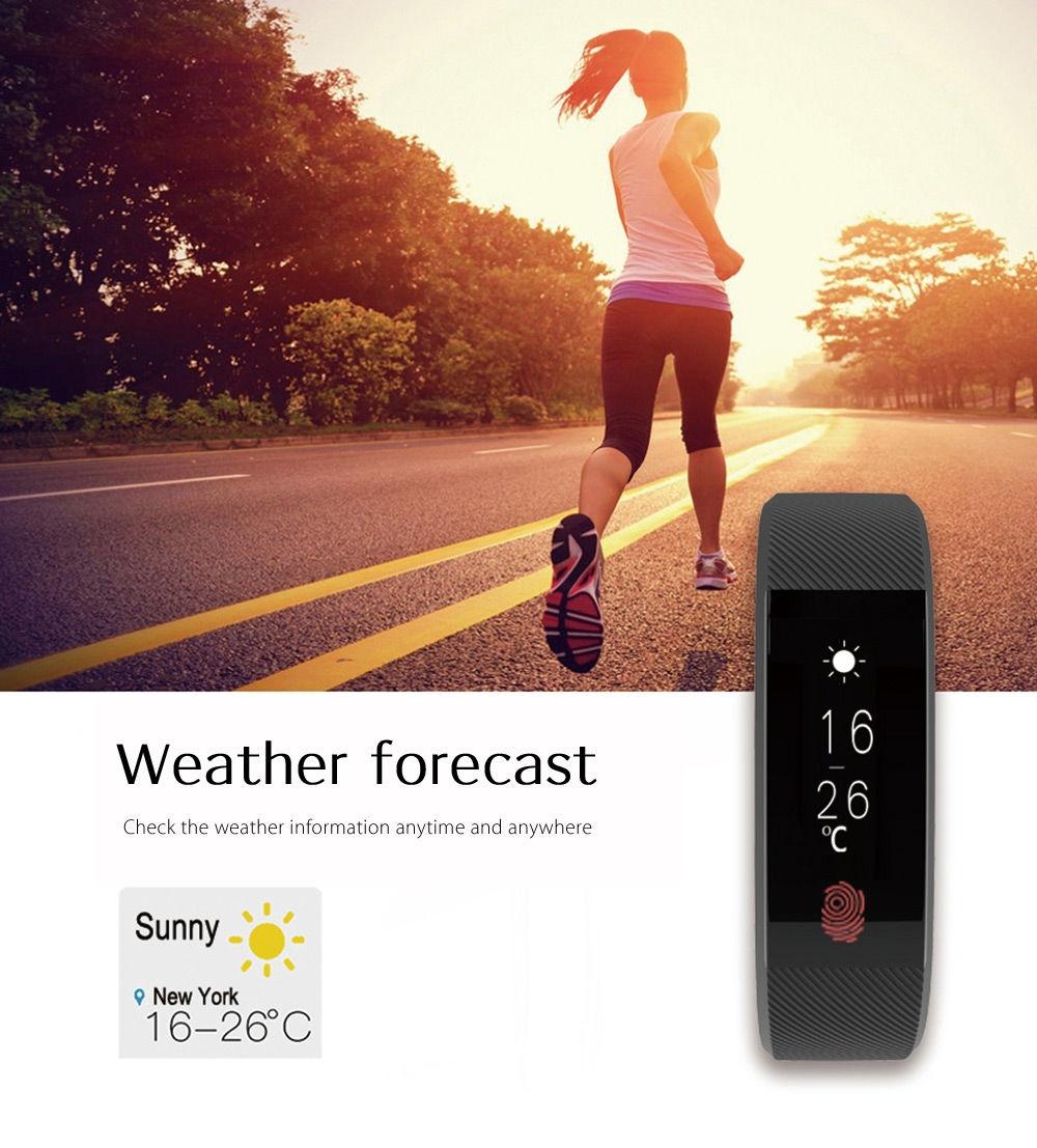 TenFifteen W808S Smart Wristband Heart Rate Sleep Monitor Pedometer
