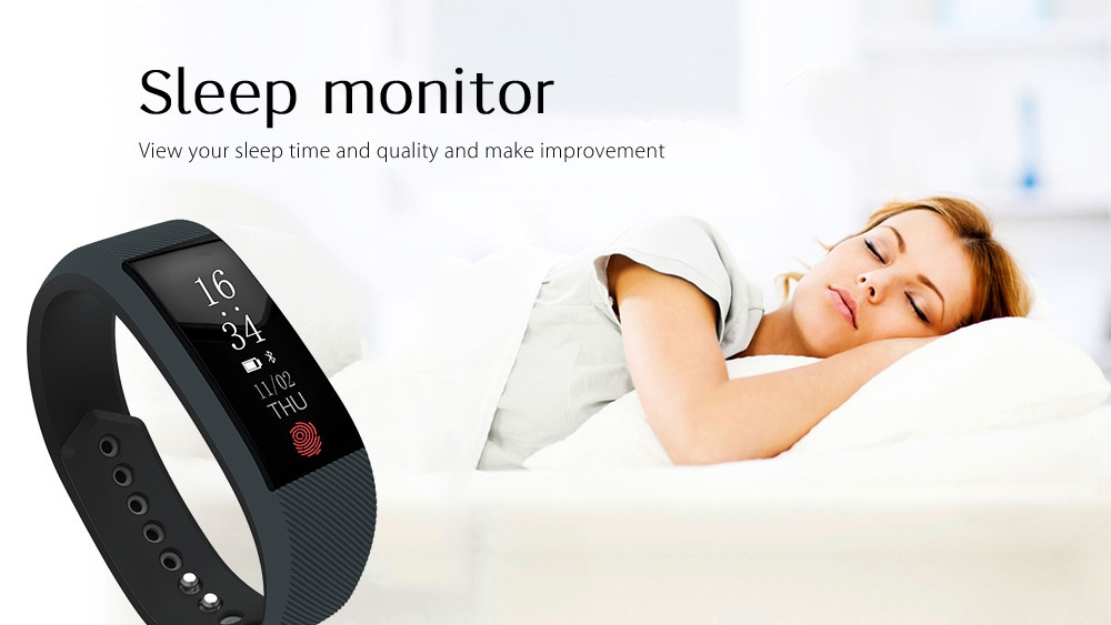TenFifteen W808S Smart Wristband Heart Rate Sleep Monitor Pedometer