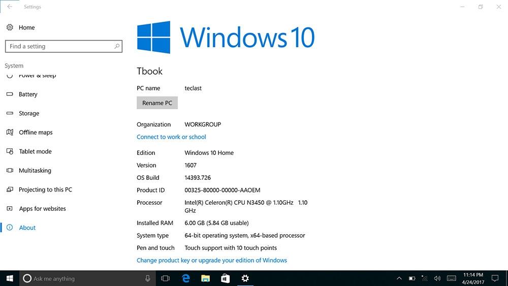 Teclast X3 Plus 2 in 1 Tablet PC 11.6 inch Windows 10 Intel Celeron N3450 Quad Core 1.1GHz 6GB RAM 64GB eMMC Bluetooth Dual Cameras