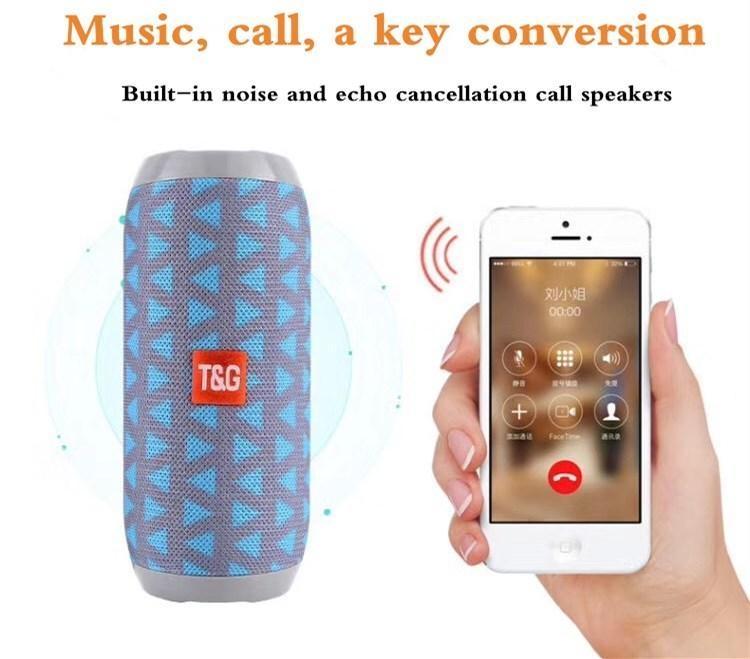 T&G TG117 Super Bass SplashProof subwoofer Wireless Bluetooth Speaker Bluetooth Accessories black one size 2