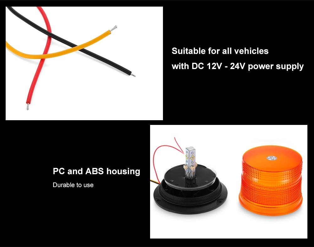 Buy Tirol 12v 24v Strobe Warning Light Single Flash Led Car Warn Wiring Diagram Vehicle Alert Lamp Emergency Alarm