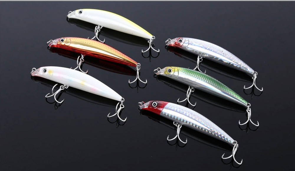TSURINOYA DW18 Hard Minnow Shape Fishing Bait for Outdoor Activity