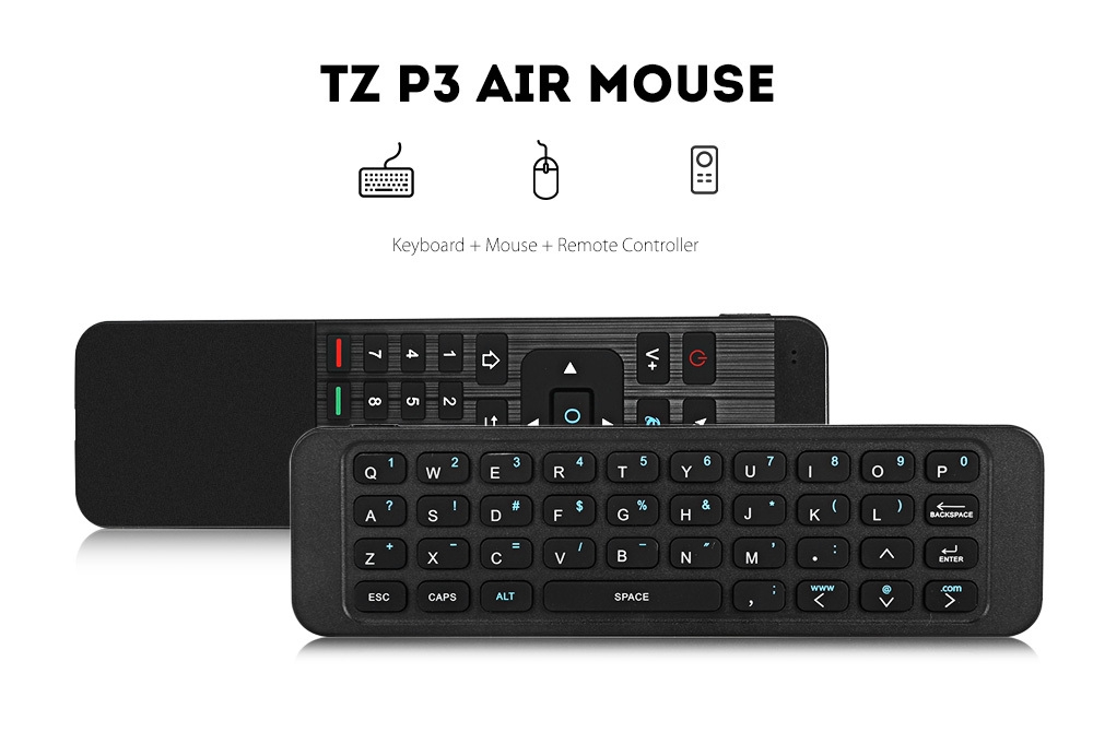 TZ P3 2.4GHz Air Mouse Wireless Keyboard Remote Controller IR Learning