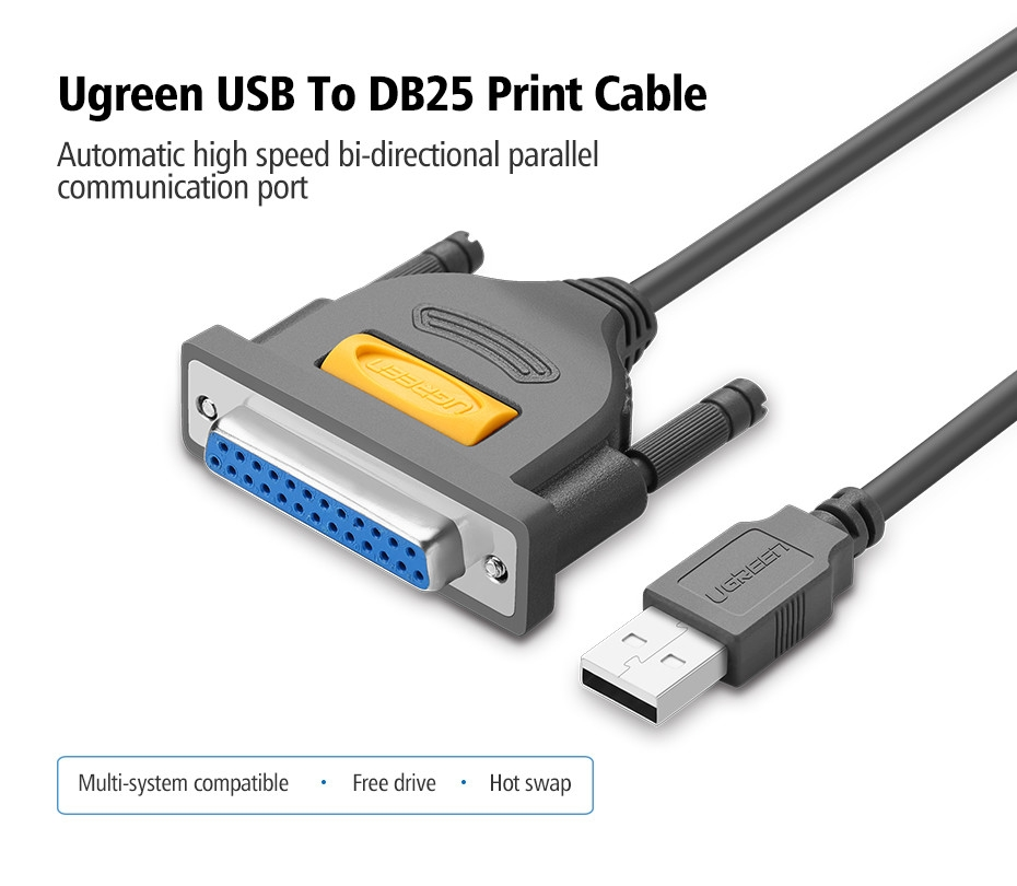 Ugreen UGREEN USB to DB25 Parallel IEEE 1284 Printer ... on
