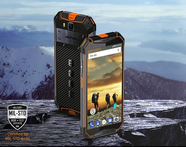 ULEFONE ARMOR 3 4GB RAM 64GB ROM Helio P23 MTK6763T 2.5GHz Octa Core 5.7 Inch Oncell Corning Gorilla Glass 5 FHD+ Screen IP68 IP69K Waterproof Android 8.1 4G LTE Smartphone
