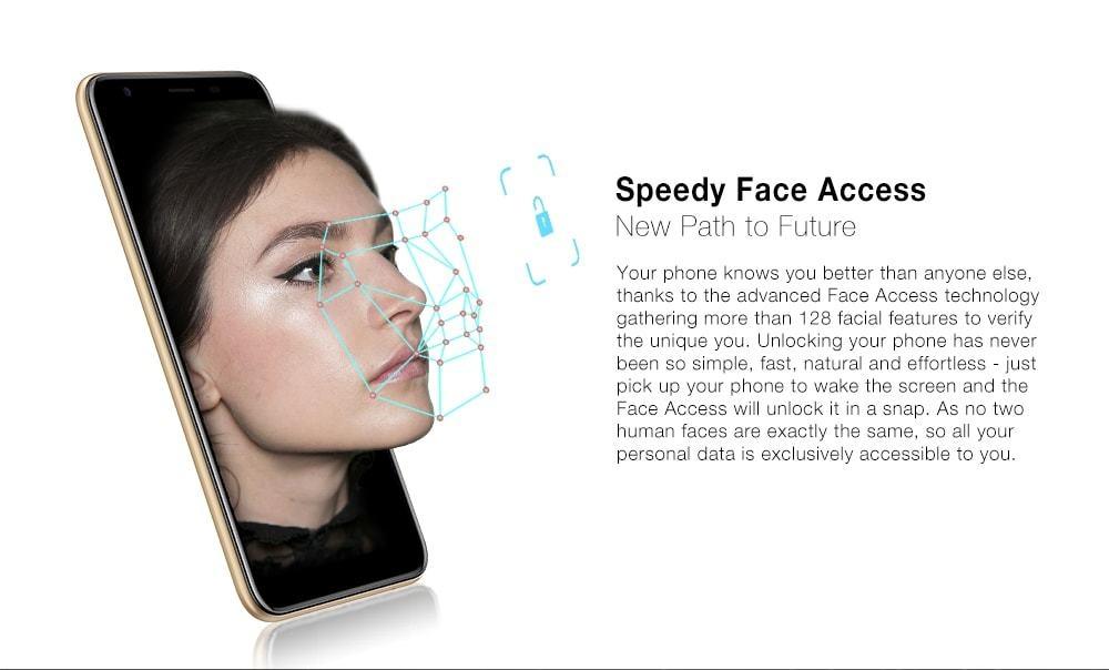 Ulefone S9 Pro 4G Phablet 5.5 inch Android 8.1 MTK6739 Quad Core 1.3GHz 2GB RAM 16GB ROM 13.0MP + 5.0MP Rear Camera Fingerprint Sensor 3300mAh Built-in- Gold