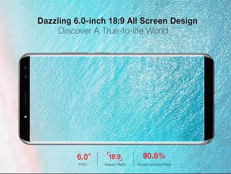 ULEFONE POWER 3S 4GB RAM 64GB ROM Helio P23 MTK6763 2.0GHz Octa Core 6.0 Inch Incell Corning Gorilla Glass 4 FHD+ Full Screen Quad Camera Android 7.1 6350mAh 4G LTE Smartphone