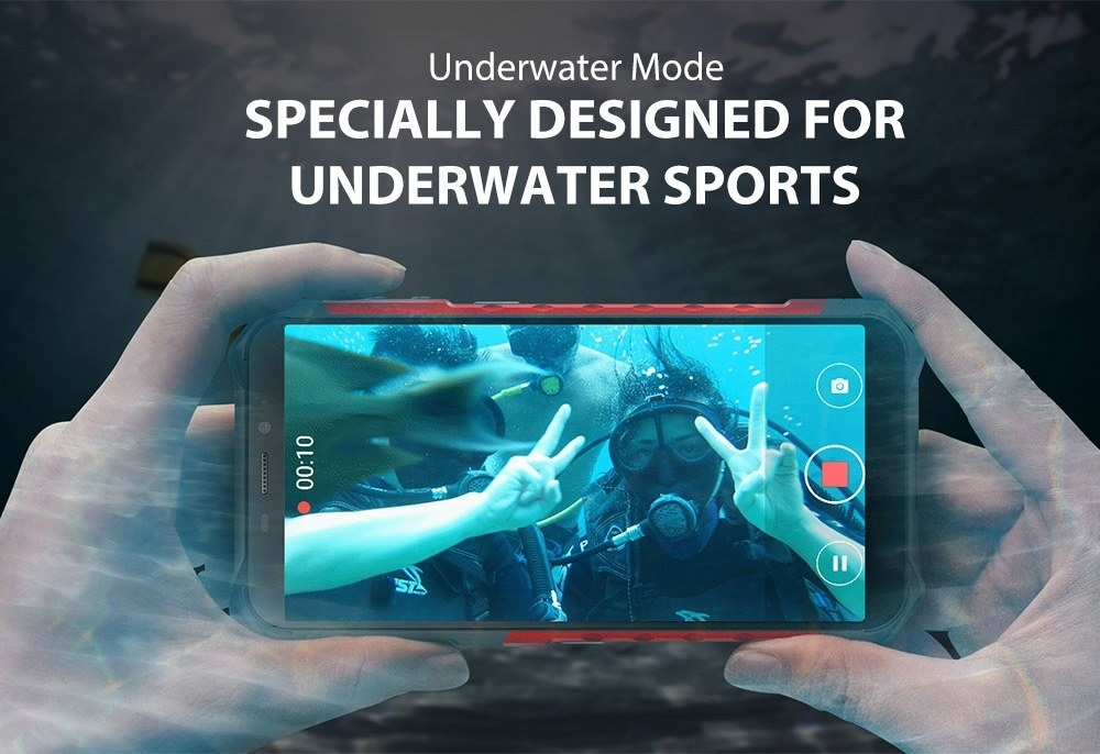 Ulefone Armor X3 3G Phablet 5.5 inch Android 9.0 MT6580 Quad Core 2GB RAM 32GB ROM 8.0MP + 2.0MP Rear Camera 5000mAh Battery- Silver Other Area