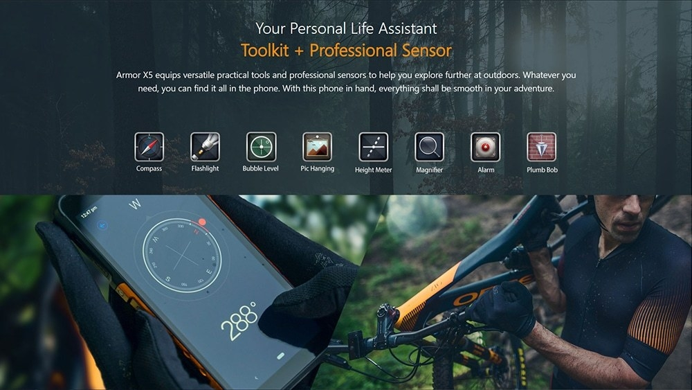 Ulefone Armor X5 4G Phablet 3GB RAM 32GB ROM- Red EU