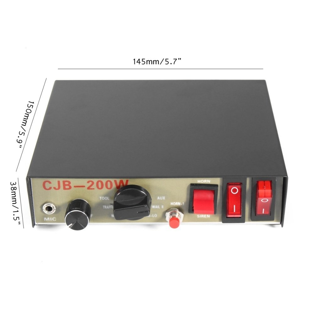 Buy Universal 200w 8 Sound Loud Car Warning Alarm Police Siren Horn Audio Wiring Supplies Image