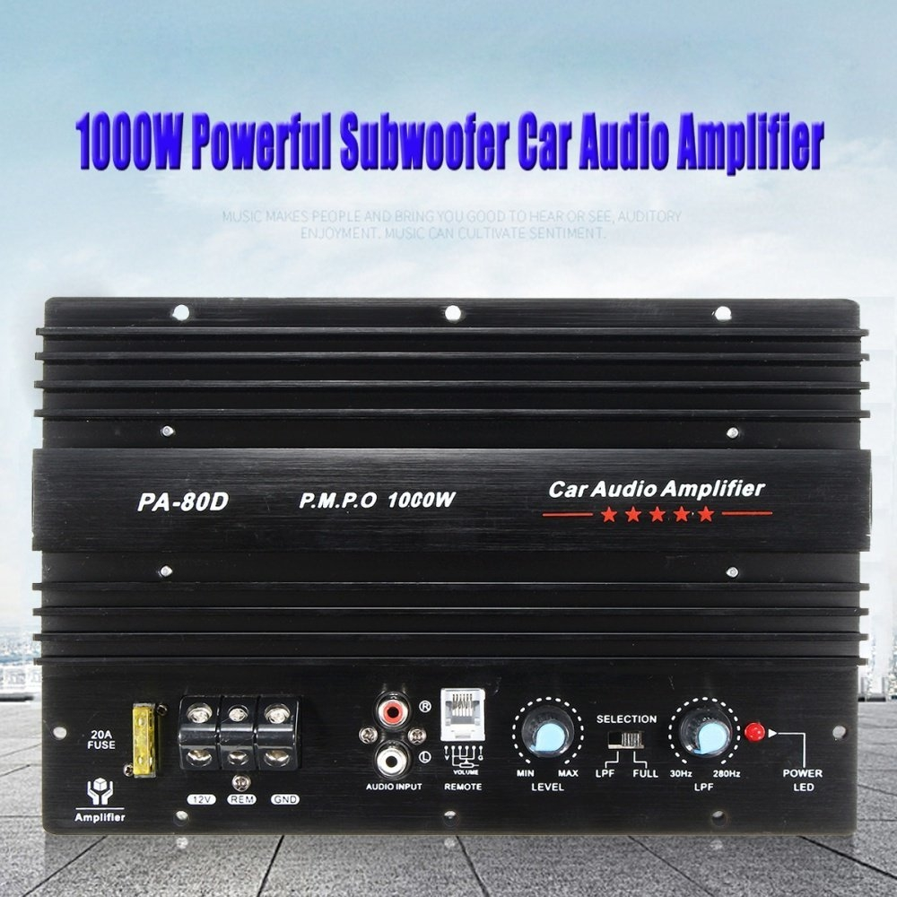 Buy Universal 12v 1000w Mono Car Audio Power Amplifier Powerful Bass Circuit And Explanation Electronic Circuits Image