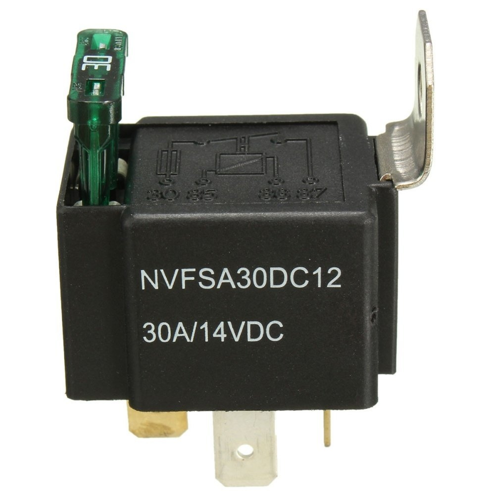 UNIVERSAL 5 Pcs 12V 30A Car 4-Pin Relay Normally Open Contacts Fused