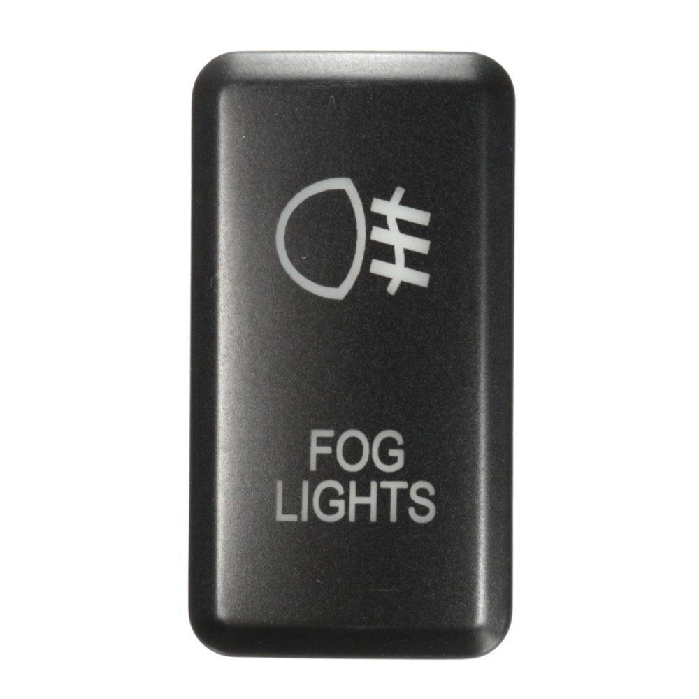 UNIVERSAL 12V LED Fog Work Indicator Light Push on Switch For ... on
