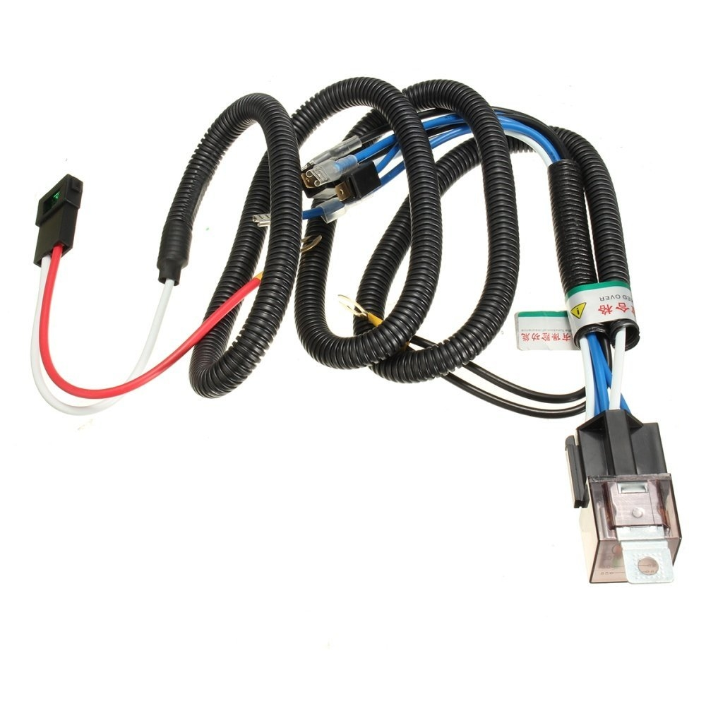 Universal Car Horn Relay Wiring Harness Kit For Grille Mount Blast on