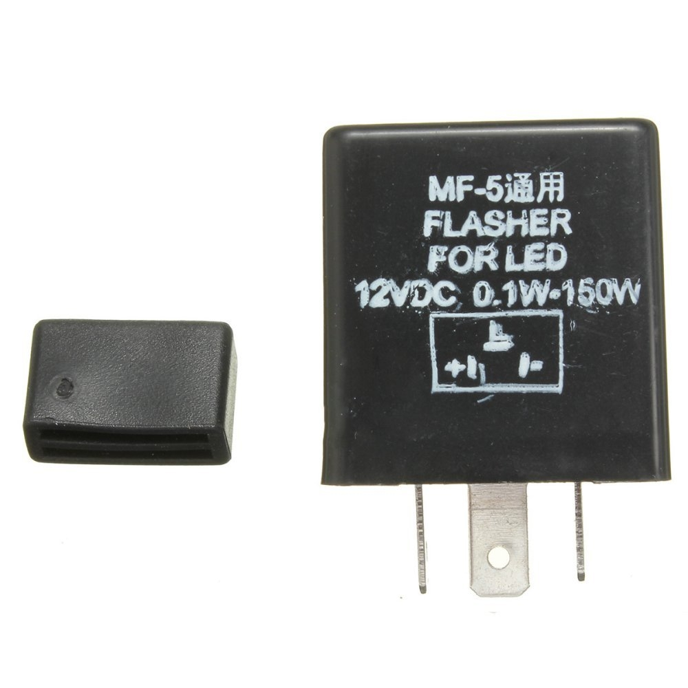 Buy Universal Black Mf 5 12v 01 150w Motorcycle 3 Pin Relay Indicator Led Flasher