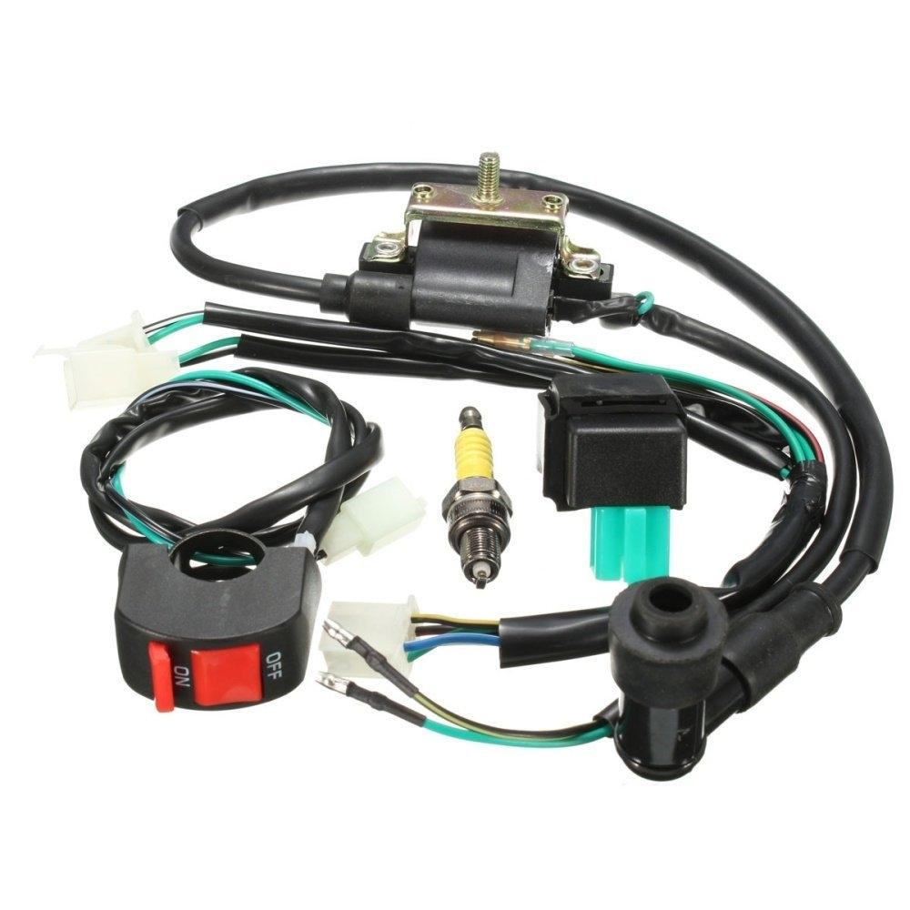 Buy Universal 162069778629 Wiring Loom Kick Start Pit Bike 110cc Sleeve 1 X Cdi Coil Spark Plug Kill Switch