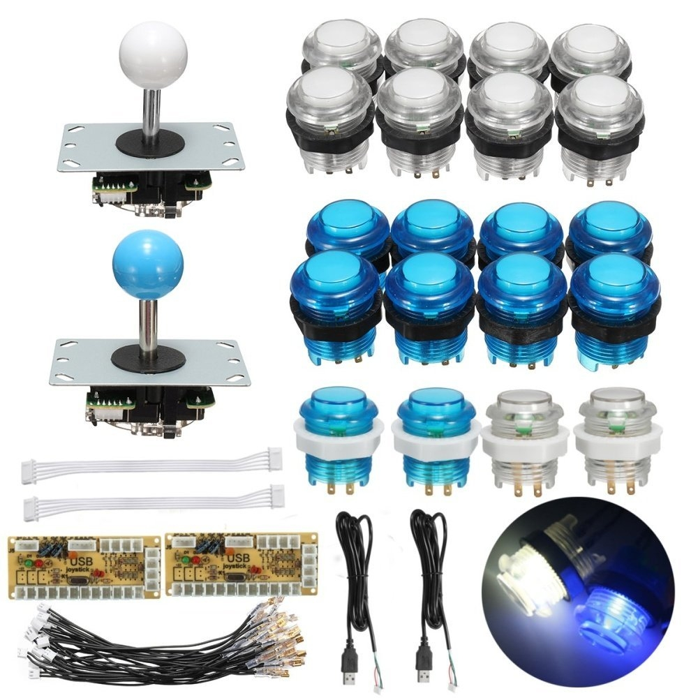 Universal 2 Players Arcade Game DIY Bundle Kits USB