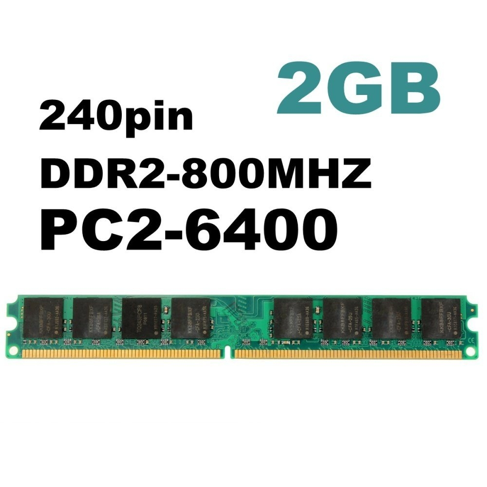 Buy Universal 1pcs 2gb Ddr2 800 Pc2 6400 Non Ecc Desktop Pc Dimm Ram Technologyddr2 Ec Supply Voltage 18v Compatible With Multiple Systems