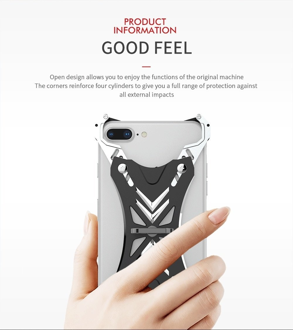 Universal Ring Grip Stand Holder Metal Bumper Case For iPhone 8/8 Plus/7/7 Plus/6s/6s Plus/6/6 Plus