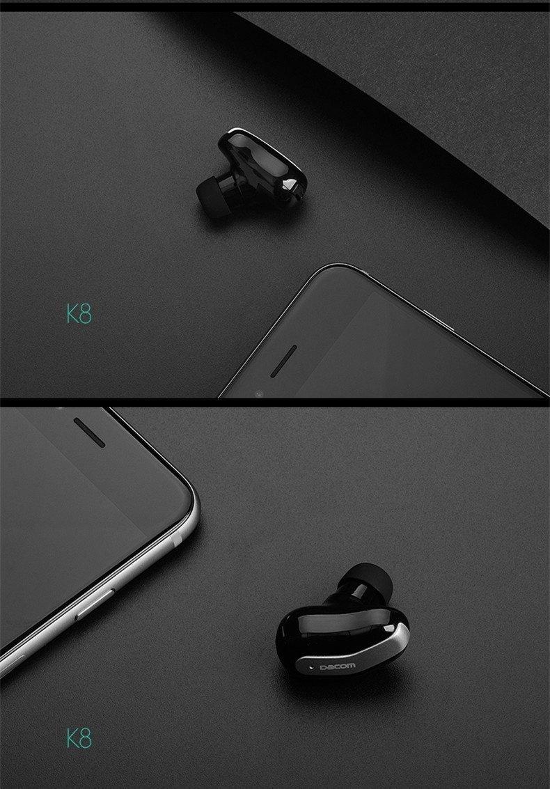 DACOM K8 Super Mini Lightweight Stealth Wireless Bluetooth Earphone Headphone