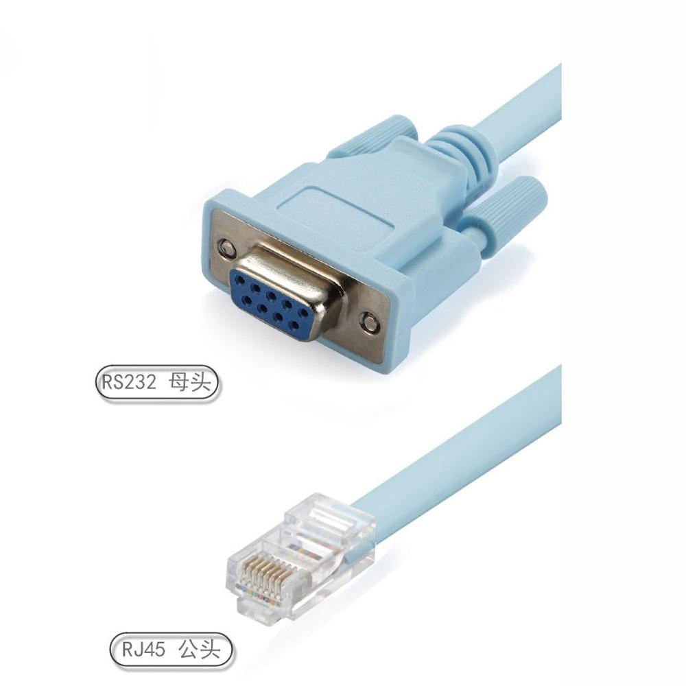 Buy Universal Henoesty Blue 18m Db 9pin Rs232 Serial To Rj45 Cat5 Wiring Diagram Image