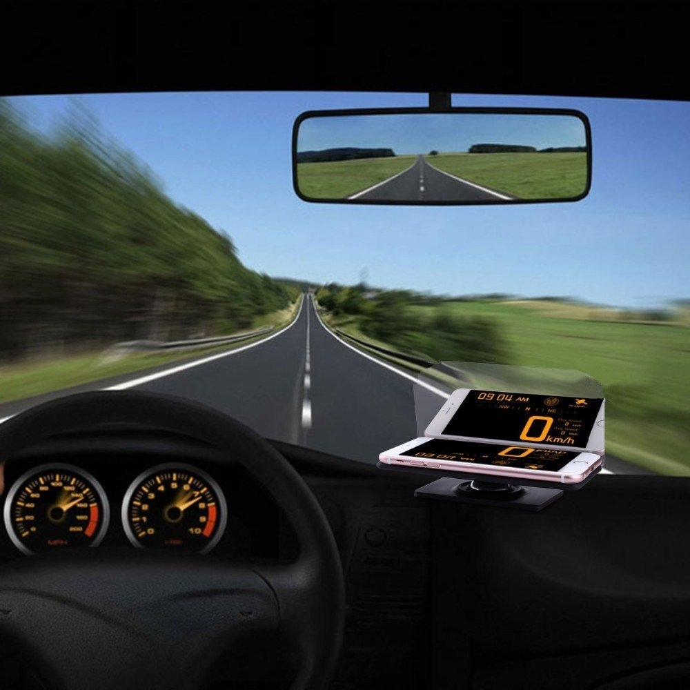 Bakeey™ HUD Head Up Display Car Cell Phone GPS Navigation Image Reflector Holder Mount
