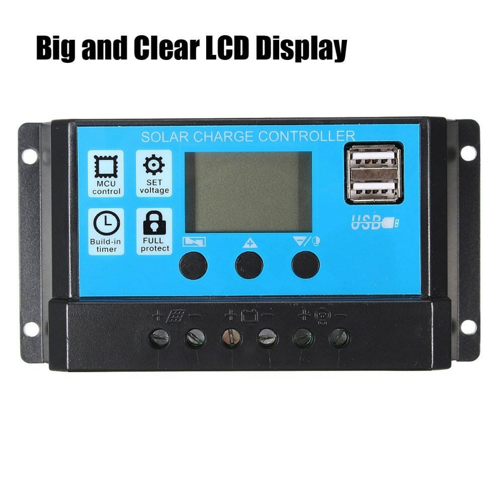 Buy Universal 10 20 30a 12 24v Lcd Pmw Solar Charge Controller Battery Circuit Image