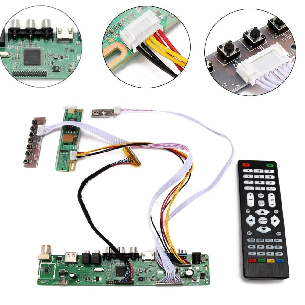 Buy Universal Tv Lcd Led Screen Controller Board Diy Download Image Electronic Circuit Pcb Blank Product Pc