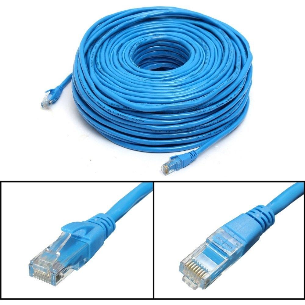 Buy Universal Blue 50m 164feet Rj45 Cat6 Cat6e Ethernet Internet Lan Wiring Image