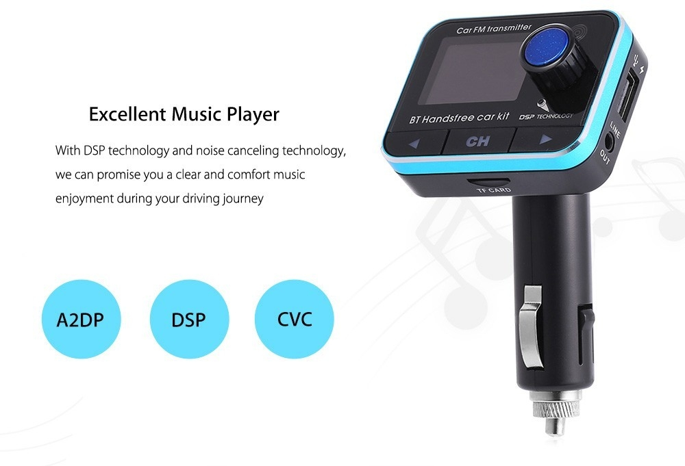 Universal BT008 Car Kit Bluetooth FM Transmitter Auto Music