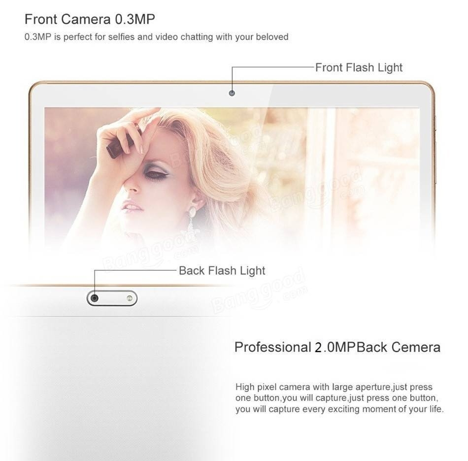 16G MT6582M A7 Quad Core 10.1 Inch Android 4.4 3G Calliing Tablet