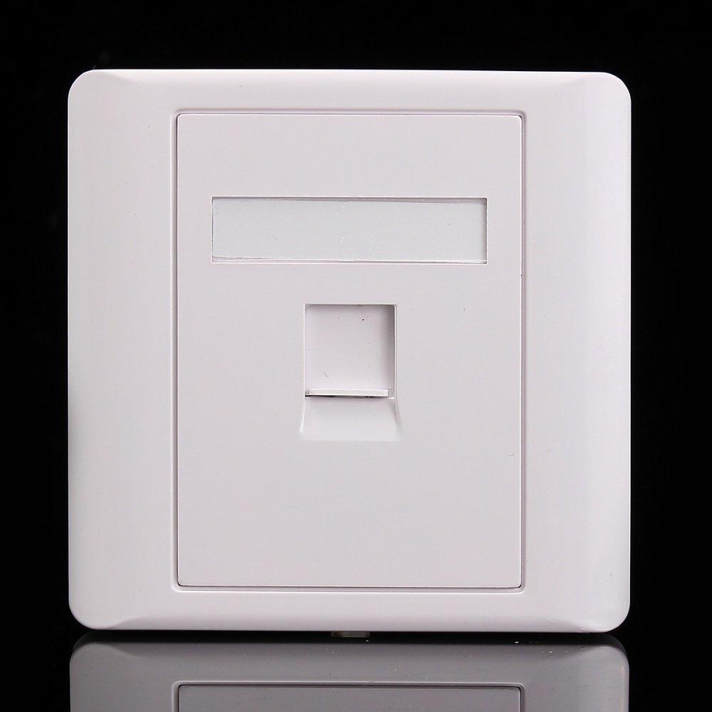 Buy Universal Rj45 Cat5e Socket Faceplate Network Lan Keystone Cable Wiring Home Design Image