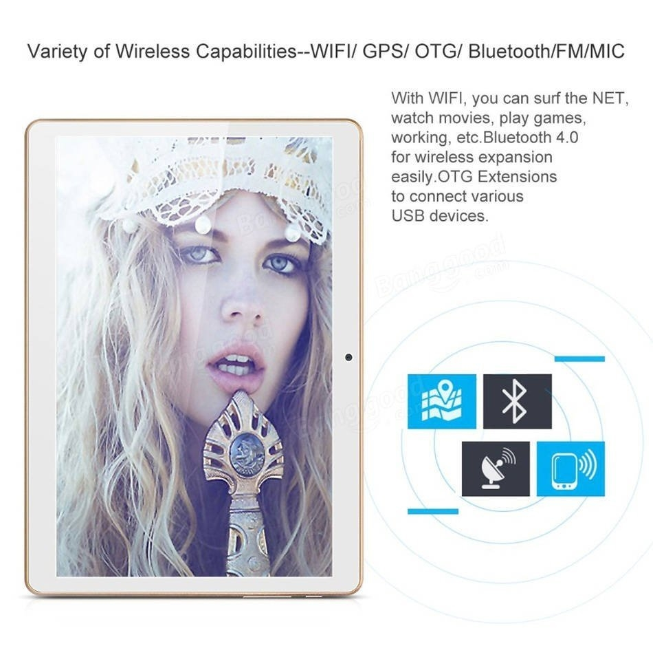 16GB A7 Quad Core 9.6 Inch metallic Shell Android 6.0 Dual 3G Phablet