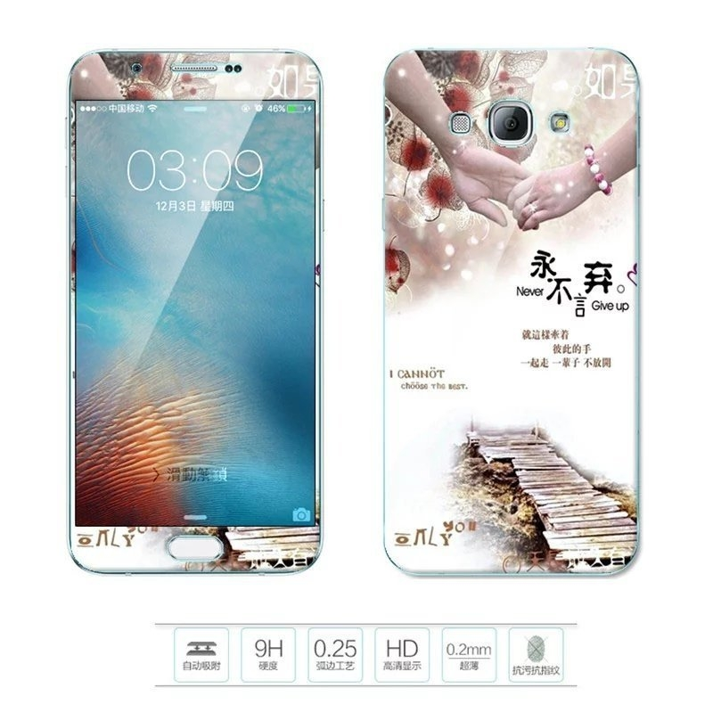 ... Case Cover Color Tempered Glass Source · Lovely 3D Painting Front Full Cover Color Tempered Glass Screen Protector Film Back Same Design Source